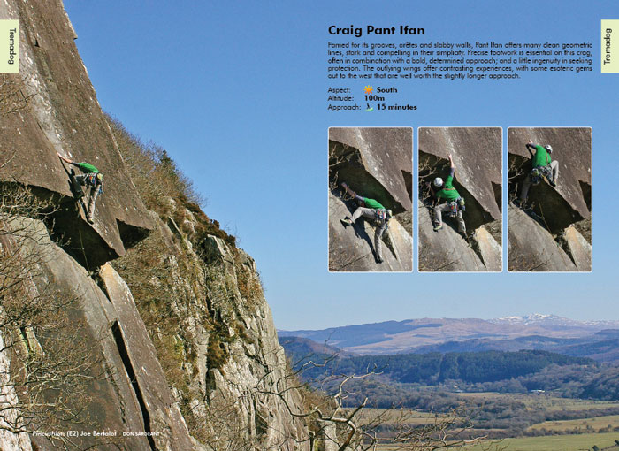 Joe Bertalot on Pincushion, Craig Pant Ifan (E2) © The Climbers' Club, photo Don Sargeant