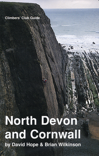 Dave Turnbull on Bugsy (E5 Maer Cliff) Photo Chris Rees