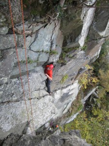 Derision Groove - Climbers: Chris Bagworth Rick Graham. Image: Paul Ross