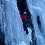 Kelly MacLennan at Krokan -this was Kelly's first ice climbing trip - she must have enjoyed it because has been climbing  all winter on scottish ice since her return
