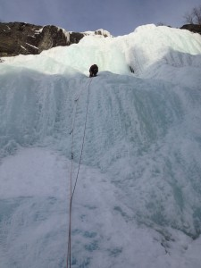 Richard Jolley on Haugfossen (WI4) at Hemsedal.