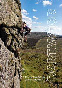 Cherry Bedford climbing the classic route Interrogation E3 6a (Haytor Low Man) photo: Justin Timms